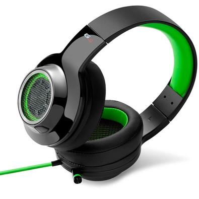 Headphone Gamer 7.1 EDIFIER G4 Over-Ear Preto e Verde