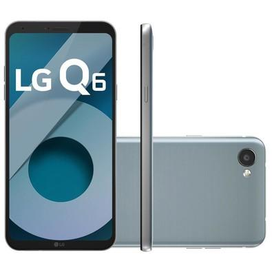 Smartphone LG Q6, 32GB, 13MP, Tela 5.5´, TV Digital, Platinum - M700 TV