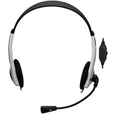 Headset Fortrek Multimídia HBL-101 Preto/Prata - 62887