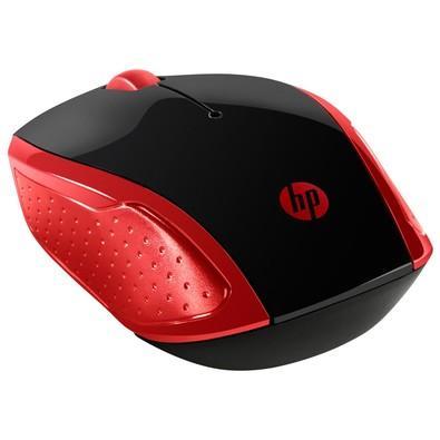 Mouse HP Sem Fio 200 Oman Vermelho