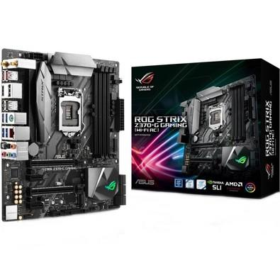 Placa-Mãe ASUS p/ Intel LGA 1151, mATX, ROG STRIX Z370-G GAMING (WI-FI), DDR4