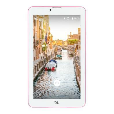 Tablet DL, 7´, 3G, Faz e Recebe Ligações, 2 SIM Card´s, Quad Core 1.3Ghz, Android 7.0, 8GB, 1GB de memória RAM, Bluetooth, WiFi Mob Tab - TX384PIN Rosa