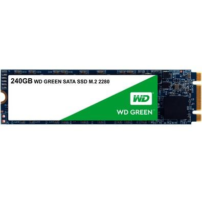 SSD WD Green, 240GB, M.2, Leitura 545MB/s - WDS240G2G0B