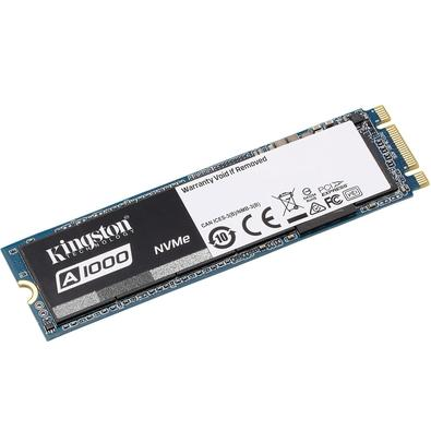 SSD Kingston A1000, 480GB, M.2 NVMe, Leitura 1500MB/s, Gravação 900MB/s - SA1000M8/480G