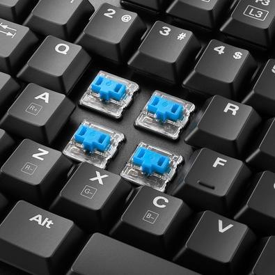 Teclado Mecânico Gamer Sharkoon PureWriter, RGB, Switch Kailh Blue, US