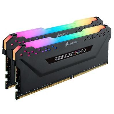 Memória Corsair Vengeance RGB Pro, 16GB (2x8GB), 3000MHz, DDR4, CL15 Preto - CMW16GX4M2C3000C15