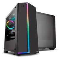 Gabinete NOX INFINITY NEON, Painel lateral em Vidr..