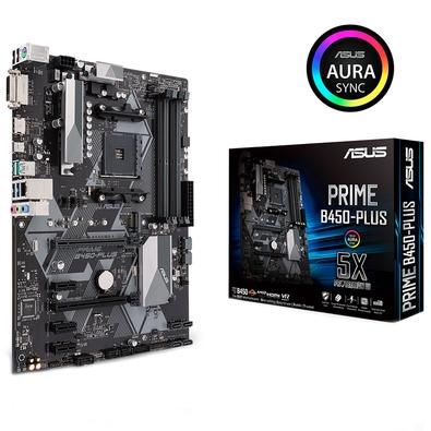 Placa-Mãe ASUS p/ AMD AM4 ATX PRIME B450-PLUS, DDR4