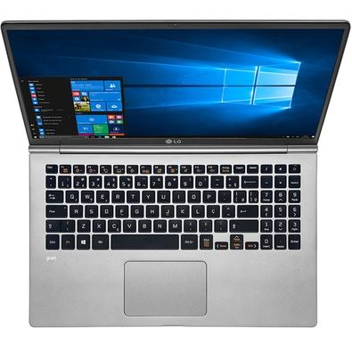 Notebook LG Gram, Intel Core i7-8550U, 8GB, SSD 256GB, Windows 10 Home, 15.6´, Titânio 15Z980-G.BH72P1
