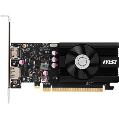 Placa de Vídeo MSI NVIDIA GeForce GT 1030 2GD4 LP OC 2GB, DDR4 - 912-V809-2826 - ESP