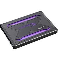 SSD HyperX Fury RGB, 480GB, SATA, Leitura 550MB/s, Gravação 480MB/s, Kit Upgrade - SHFR200B/480G