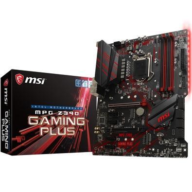 Placa-Mãe MSI MPG Z390 Gaming Plus, Intel LGA 1151, ATX, DDR4