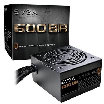 Fonte EVGA 600W, 80 Plus Bronze - 100-BR-0600-K