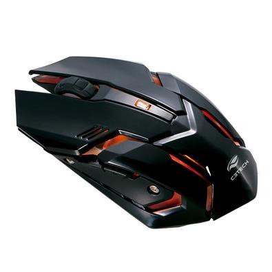 Combo Gamer Teclado, Mouse e Headset C3-Tech USB, ABNT2, 3200DPI, P2, Preto e Vermelho - GK-100BK