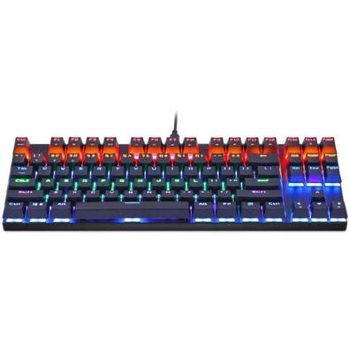 Teclado Sem Fio Mecânico Gamer Motospeed CK101 K83, Rainbow, Bluetooth, Switch Outemu Blue, US - FMSTC0013PTO