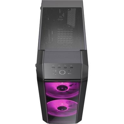 Gabinete Gamer Cooler Master MasterCase H500, RGB, 3 Coolers, Lateral em Vidro, Iron Grey - MCM-H500-IGNN-S00