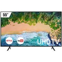 Smart TV LED 55´ UHD 4K Samsung, 3 HDMI, 2 USB, Wi-Fi, HDR - LH55BENELGA/ZD