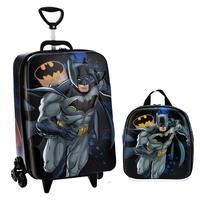 Mochila Escolar Masculina Batman com Lancheira MaxToy