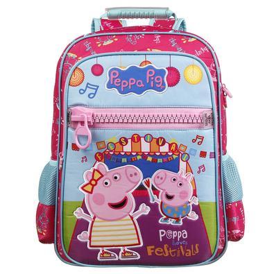 Mochila Escolar Peppa Pig de Costa Dermiwil com Estojo Tam G e Garrafinha Ref 37473