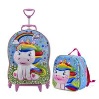 Mochila Escolar Feminina Cute Unicorn com lancheira MaxToy