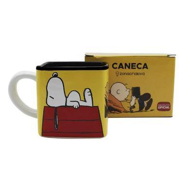 Caneca Cubo Turma Snoopy