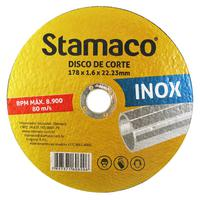 Disco De Corte Inox 178x 1.6x 22,23mm Stamaco 178mm