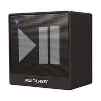 Caixa de Som Bluetooth Multilaser SP277 Preta