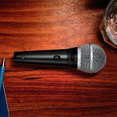 Microfone Profissional Vocal Com Fio Pga48