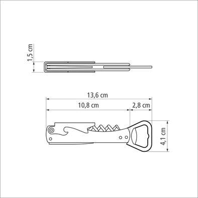 Abridor com Saca Rolhas e Canivete Tramontina Harmoniza com Lâminas em Aço Inox e Corpo em ABS Lilás Tramontina