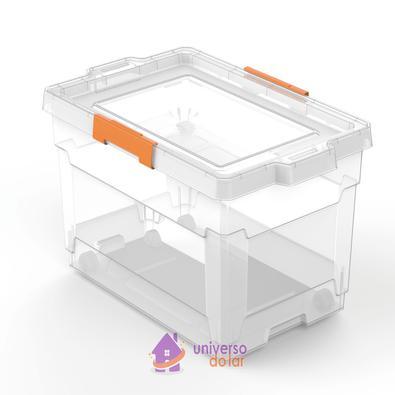 Caixa Organizadora 60L Transparente Basic Tramontina