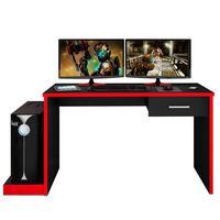 Mesa para Computador Móveis Leão Notebook Desk Game, Preto/Vermelho - DRX 9000
