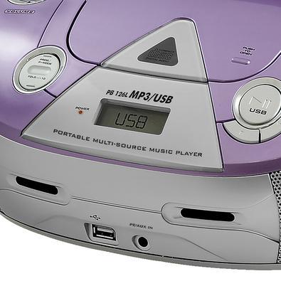 Boombox Philco PB126L Lilás CD, CD-R/RW e MP3 Bivolt