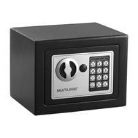 Cofre Eletrônico Multilaser 17x23x17cm Preto - OF007