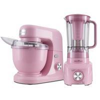 Kit Batedeira e Liquidificador, Britânia, Cozinha Concept Pink, 127V - BKT18RS