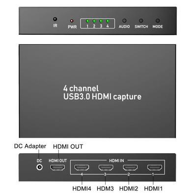 Placa de Captura Multi-Viewer Ezcap264, HDMI de 4 Canais, USB3.0 UVC Live Streaming e Gamer