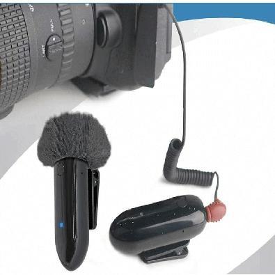 Sistema Slim Microfone Lapela LensGo, Sem Fio, 318C, Wireless, para Smartphone, Câmeras e Filmadoras (Preto)