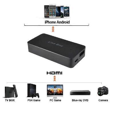 Placa de Captura para SmartPhone, HDMI e Micro-USB, Live Stream - Ezcap270