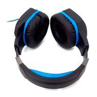 Headset Gamer Knup, Com Microfone, PC, PS3, PS4, Xbox One, Conector P2, Azul e Preto - KP-451