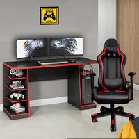 Kit Bela Cadeira Gamer Thunder Deluxe + Mesa Gamer XP, Preto
