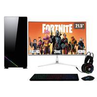 PC Gamer Completo XP, Intel Core i7, 8GB, (Placa de vídeo Geforce GT 1030 2GB), SSD 120GB, HD 2TB, 500W, 3green Monitor 21.5'' Prata, 75Hz - Linux