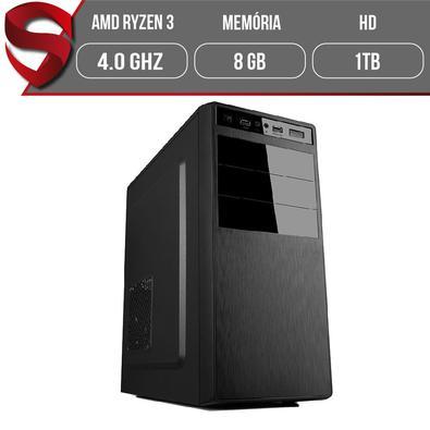 Computador Skill Graphics, AMD Ryzen 3 3200G 4.0GHz, 8GB DDR4, HD 1TB, Full HDMI, Preto