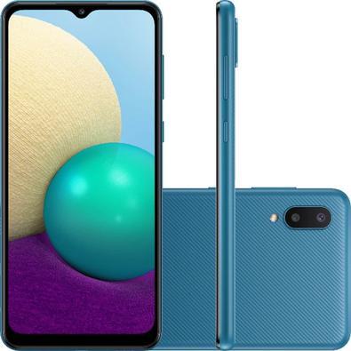 Celular Smartphone Samsung Galaxy A02 A022m 32gb Azul - Dual Chip