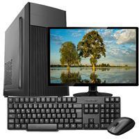 """Computador Completo Work Shop com Processador Intel Core 2 Duo, 4GB DD3, SSD 120GB, Entrada USB, VGA, Windows 10 com Monitor 17"""" + Teclado, Mouse e Caixa de Som"""