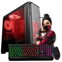 Computador Gamer com Processador Intel Core i5-650 3.20GHz, 8GB de Memória Ram, SSD 120GB, Placa de Vídeo Nvidia GeForce GT730, Entrada HDMI e VGA, Windows 10 com Teclado Gamer, Mouse Gamer e Caixinha de Som