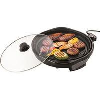 Grill Mondial Cook e Grill Premium, Tampa de Vidro, 40cm, 1200W, Preto, 110V - G-03