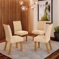 Conjunto de 4 Cadeiras Estofadas Lupita