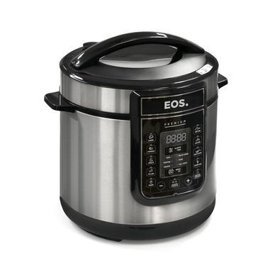 Panela De Pressão Elétrica Eos Multicooker Digital 6L Inox, 110V - Epp60di