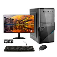 Computador Completo Corporate Asus 4° Gen I5 8gb Hd 2tb Dvdrw Monitor 15