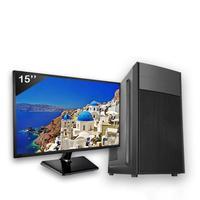 Computador Completo Icc Intel Core I3 4gb Hd 500gb Windows 10 Monitor 15