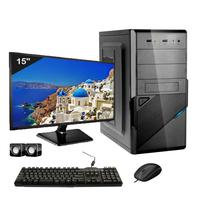 Computador Completo Icc Intel Core I5 4gb Hd 120gb Ssd Dvdrw Monitor 15 Windows 10